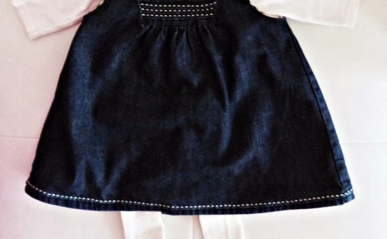 La semplicità è di moda…un vestitino in jeans Burberry