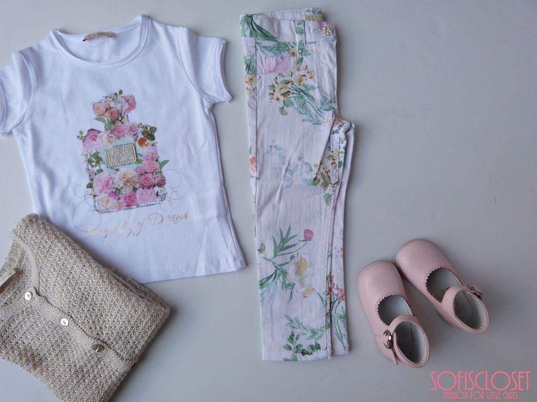 pantaloni fiori elsy