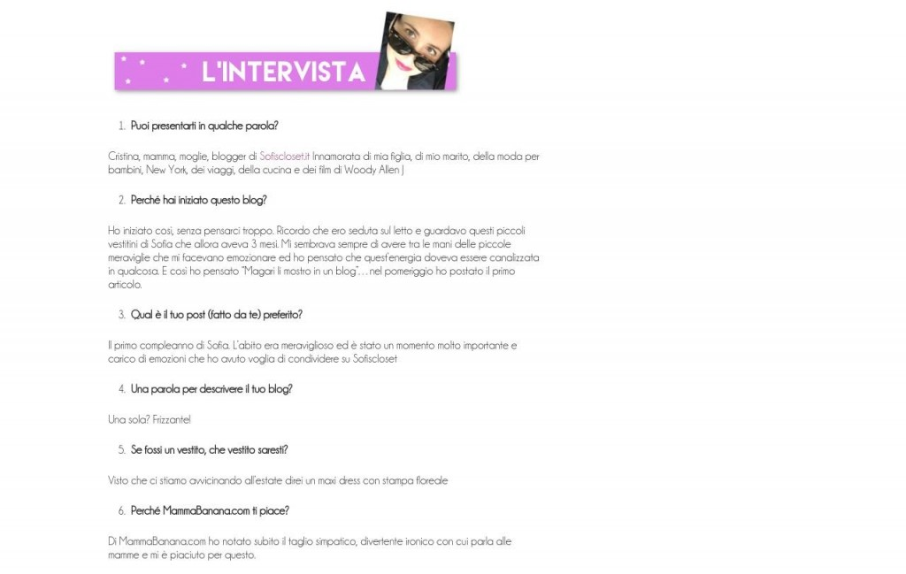 intervista Sofiscloset