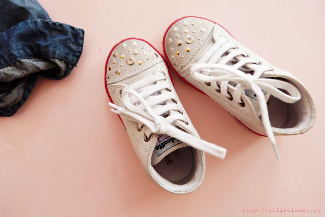 scarpe bimba con borchiette
