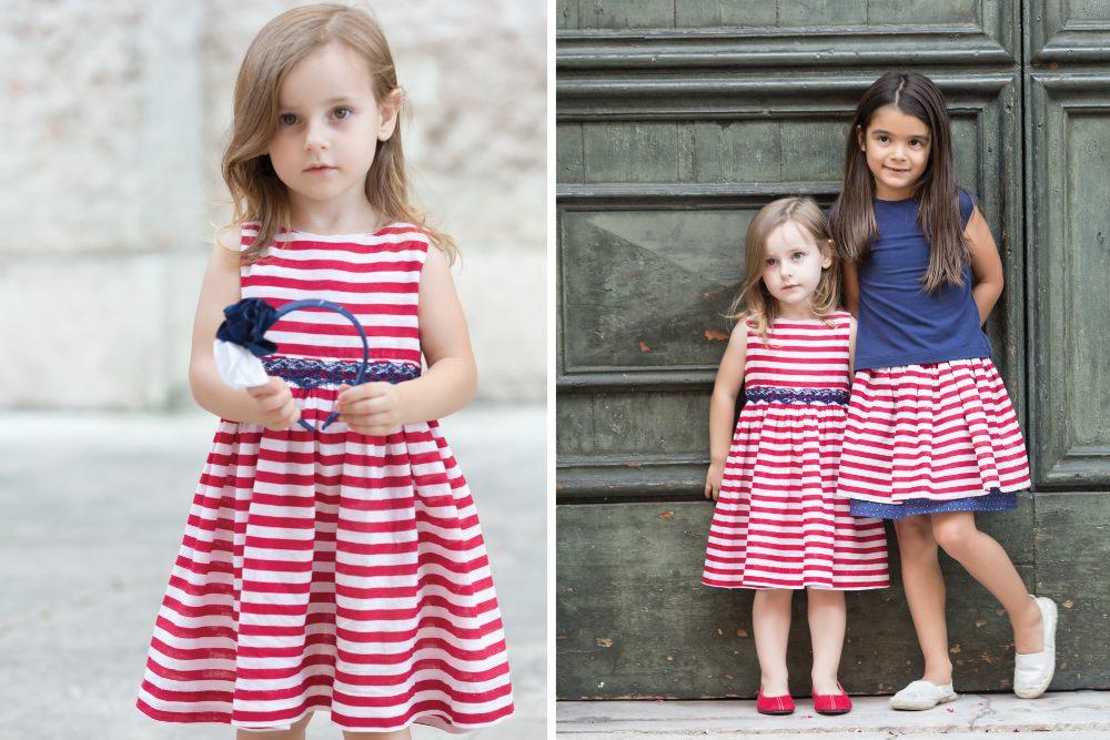 bambine alla moda. le righe